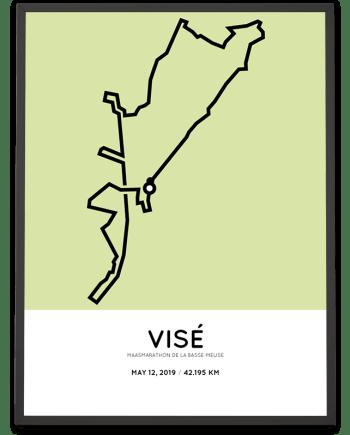 2019 Maasmarathon parcours poster