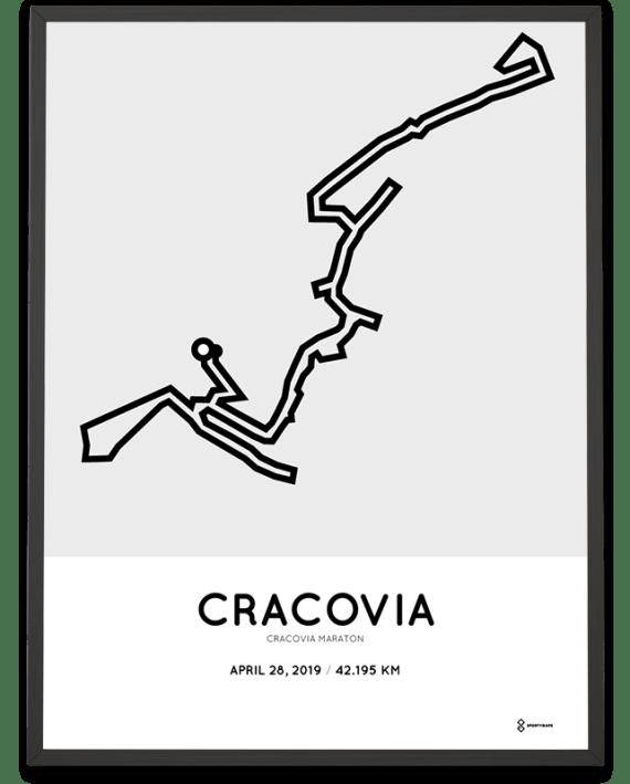 2019 Cracovia marathon course poster