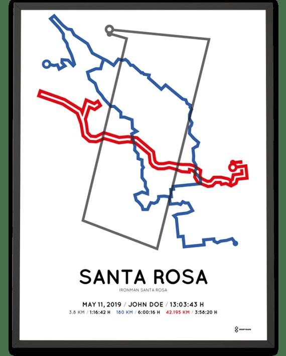 2019 Ironman Santa Rosa course poster