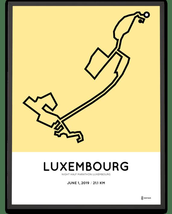 2019 Night half marathon luxembourg parcours cadre