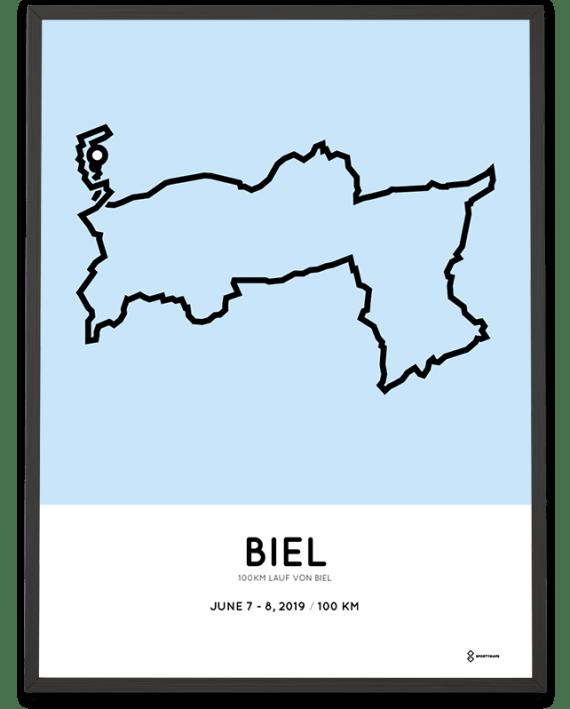 2019 100km lauf von Biel course poster