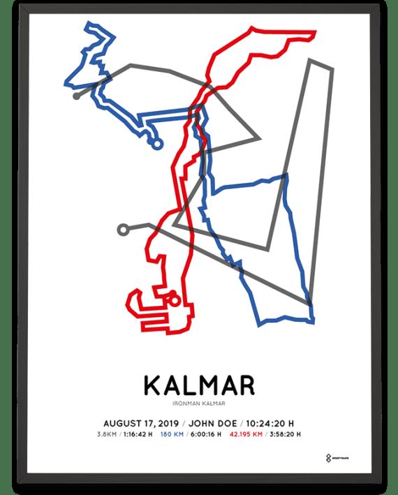 2019 Ironman Kalmar course poster