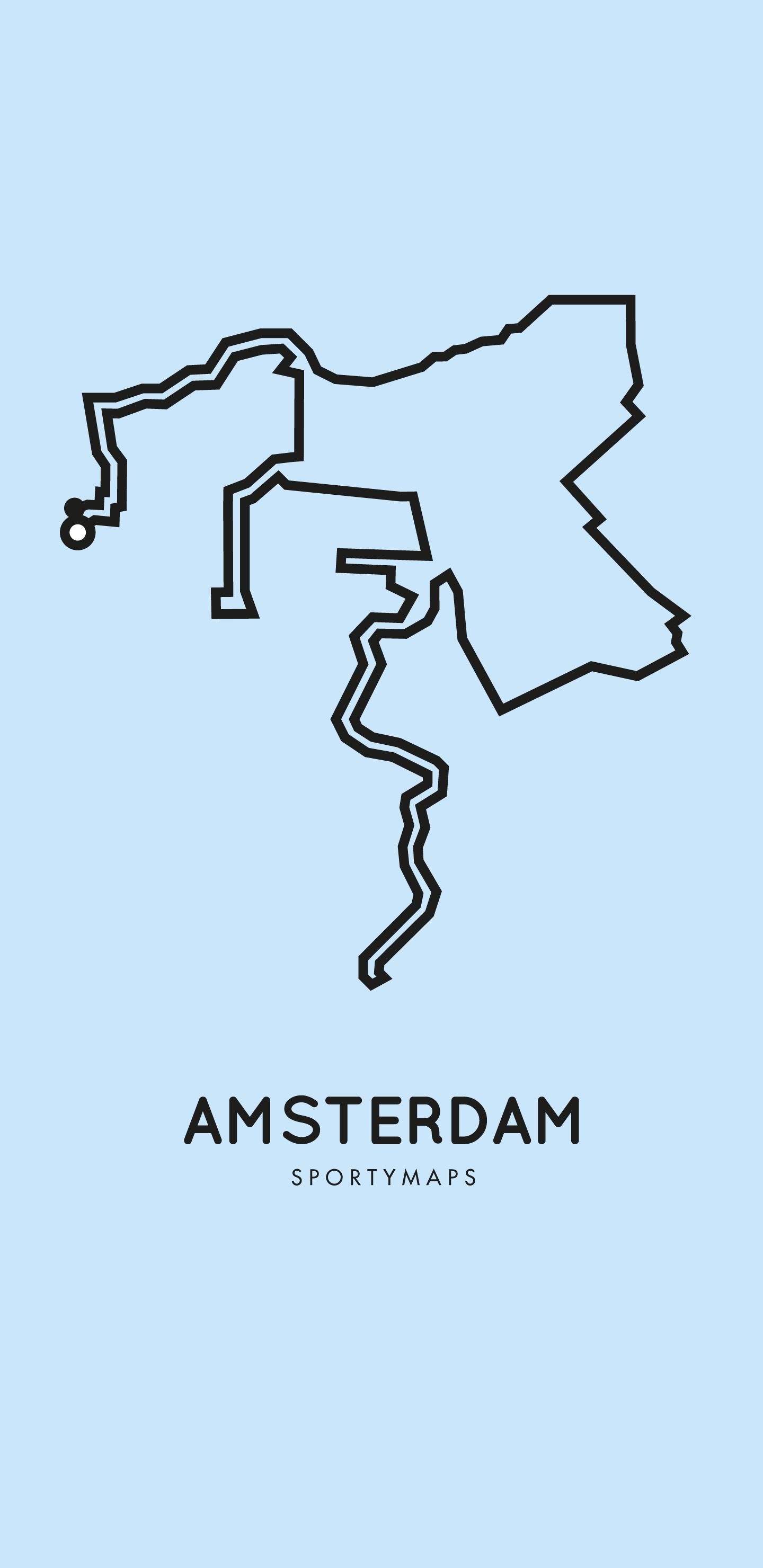 Sportymaps-Amsterdam-marathon-blue