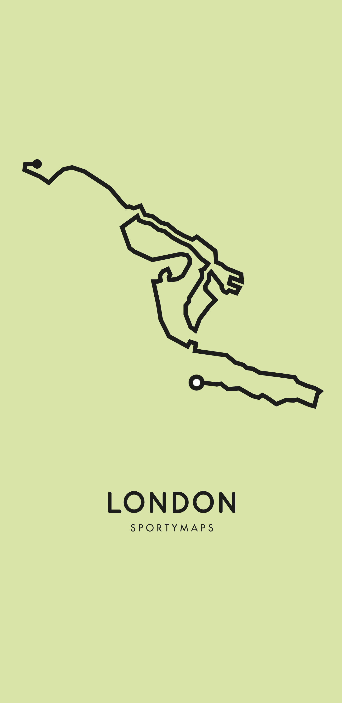 Sportymaps-London-marathon-green