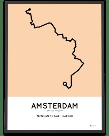 2019 Dam tot Damloop route poster