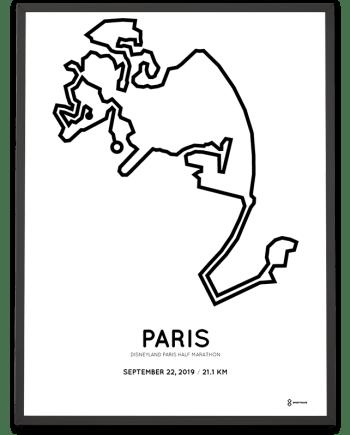 2019 Disneyland Paris half marathon course poster