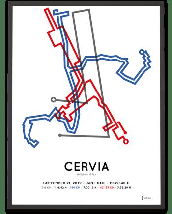 2019 Ironman Italy sportymaps course poster