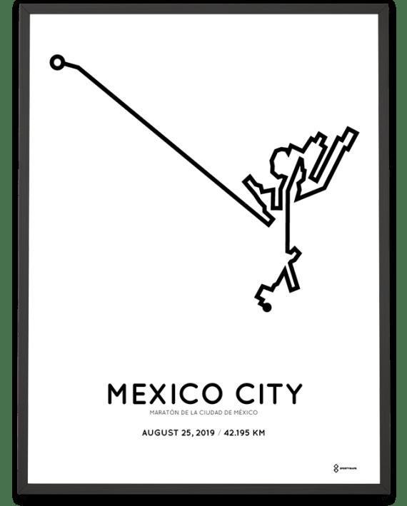 2019 Mexico City Marathon marathonermap