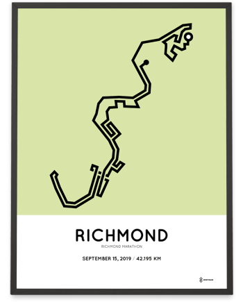 2019 Richmond Runfest marathon course poster