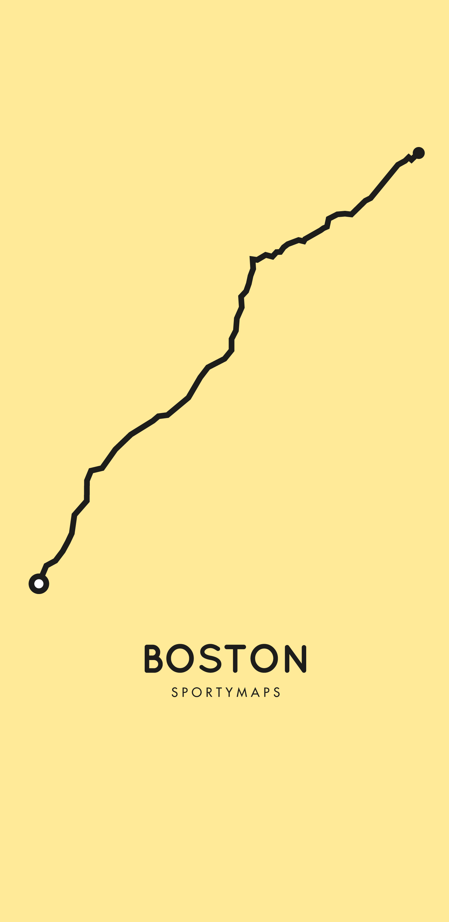 Sportymaps-Boston-marathon-yellow