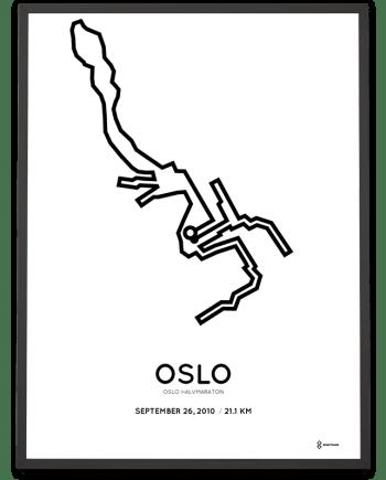 2010 Oslo half marathon course poster
