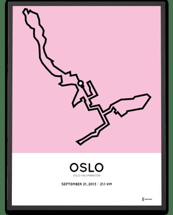 2013 Oslo half marathon course poster