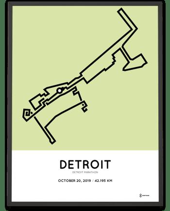 2019 Detroit marathonermap
