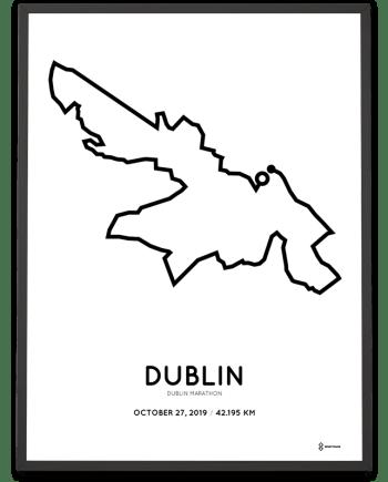 2019 Dublin marathon course poster