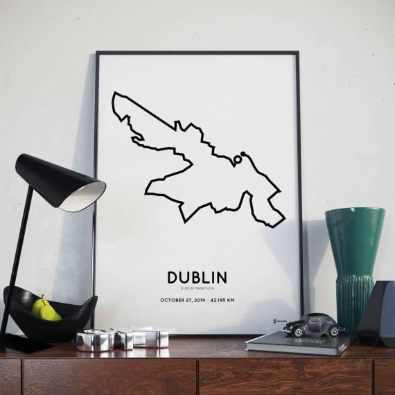 Dublin marathon sportymaps course poster