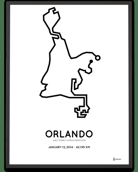 2014 Walt Disney World marathon route map
