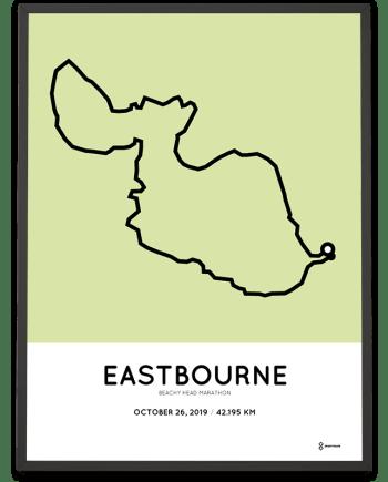 2019 Beachy Head marathoner map print