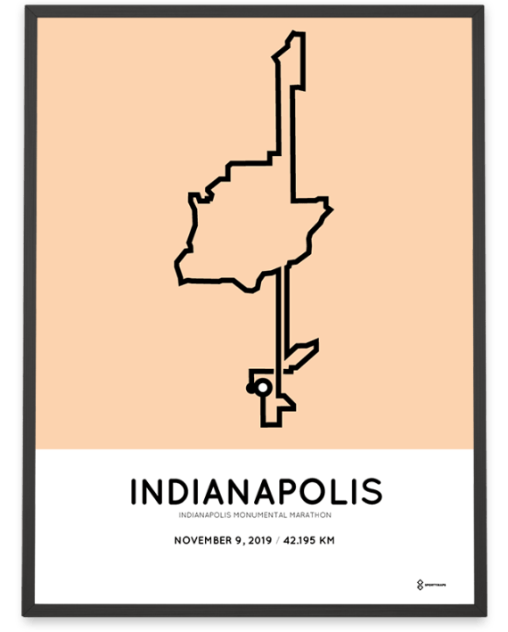 2019 Indianapolis Monumental Marathon course poster