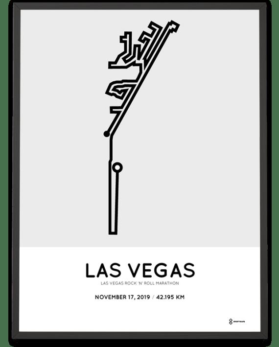 2019 Las Vegas marathoner map print