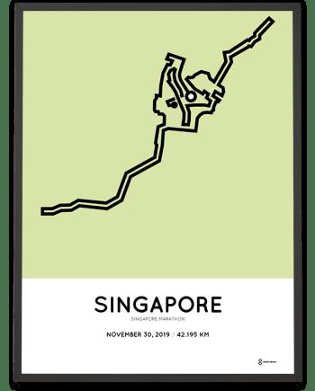 2019 Singapore marathon course poster