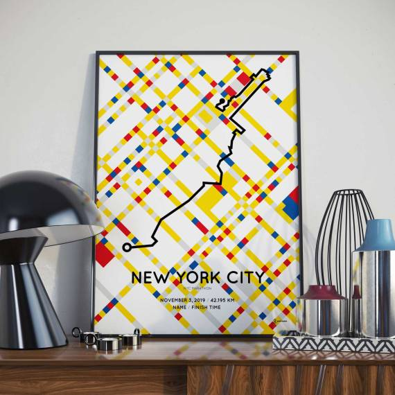 2019 NYC Marathon Special Edition course poster