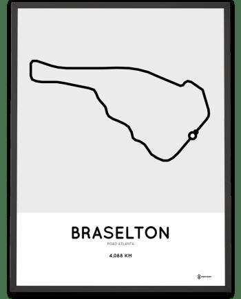 Road Atlanta Racetrack course poster