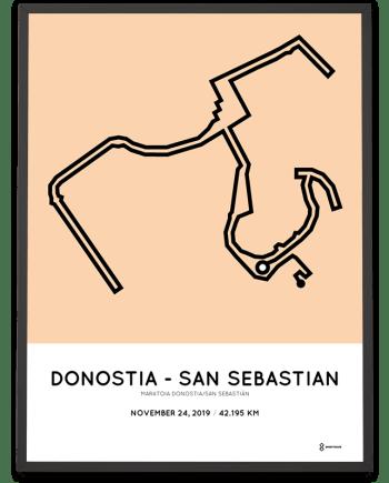 2019 Maratoia Donostia - San-Sebastian course poster