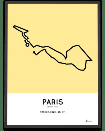2020 Paris half marathon parcours poster