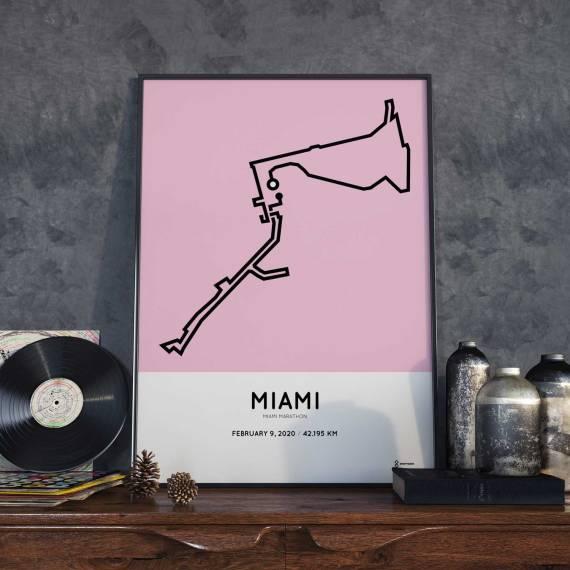 2020 Miami marathon sportymaps course print