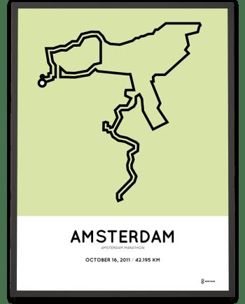 2011 Amsterdam marathonermap route poster