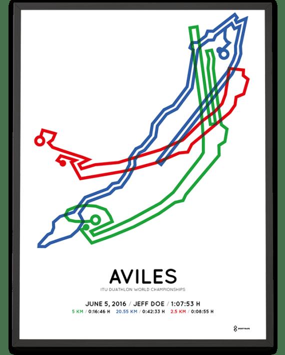 2016 ITU Duathlon world championships Aviles course poster