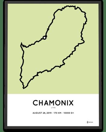 2019 UTMB Chamnox sportymaps parcours print
