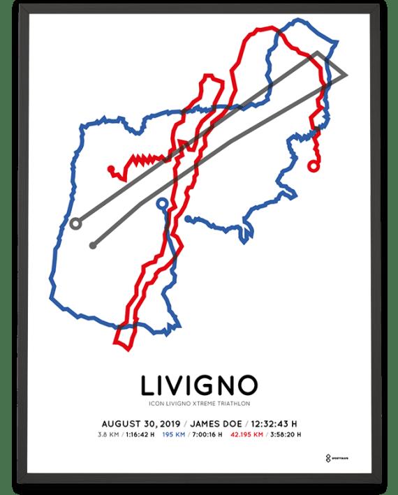 2019 icon livigno xtreme triathlon course poster