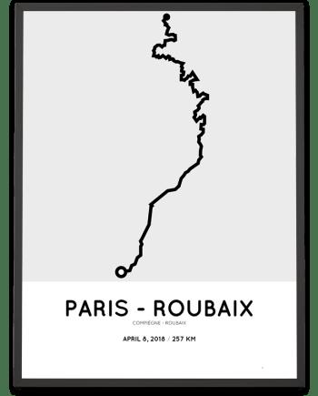 2018 Paris-Roubaix parcours poster