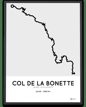 Col de la Bonette from Jausiers course poster