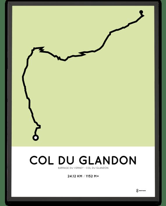 Col du Glandon from Barrage du Verney parcours poster