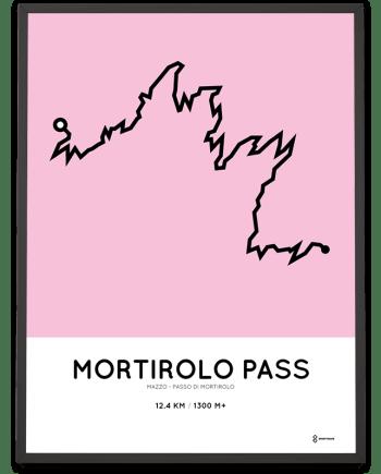 Mortirolo climb from Mazzo course poster