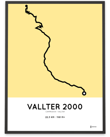 Vallter 2000 from camprodon course print