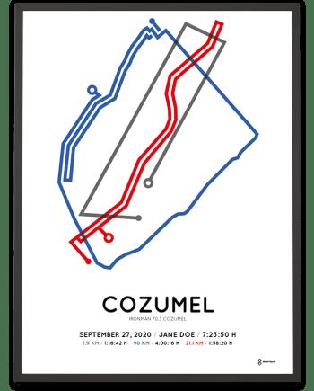 2020 Ironman 70.3 Cozumel course print