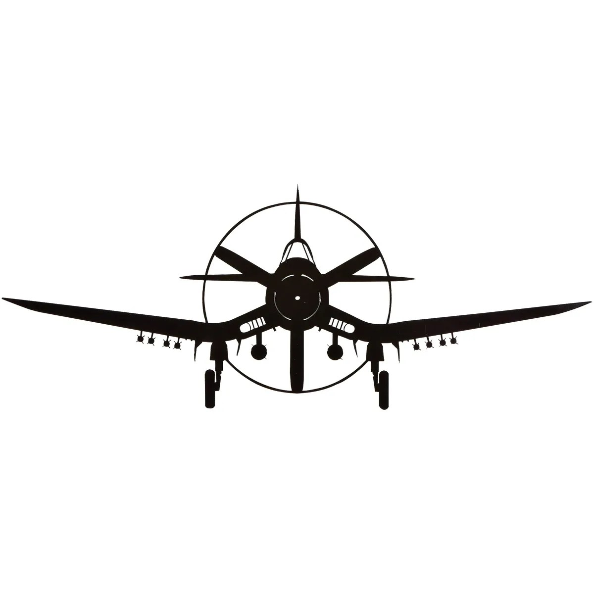 Corsair Silhouette Aircraft Metal Sign