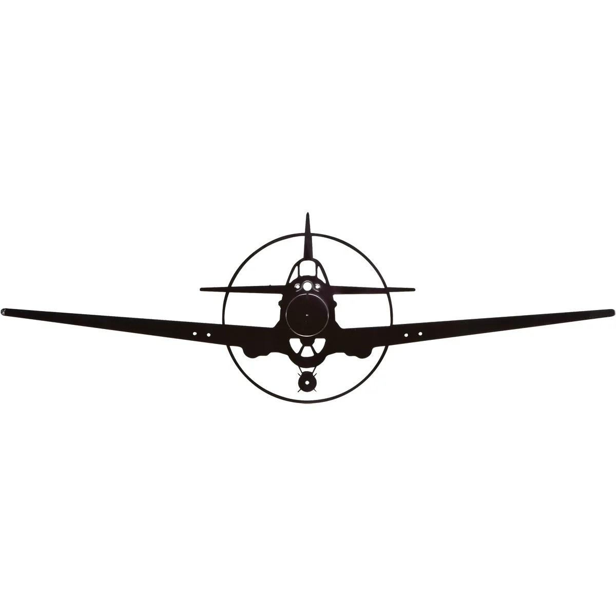P40 Warhawk Silhouette Aircraft Metal Sign