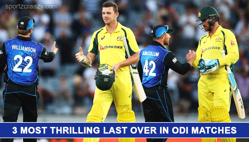 3 Most Thrilling Last Over in ODI Matches