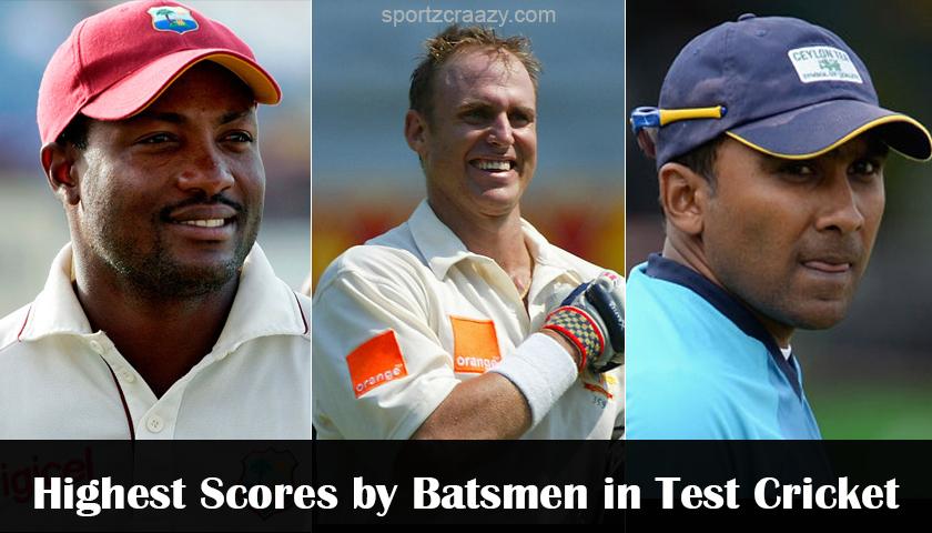 Highest Scores by Batsmen in Test Cricket
