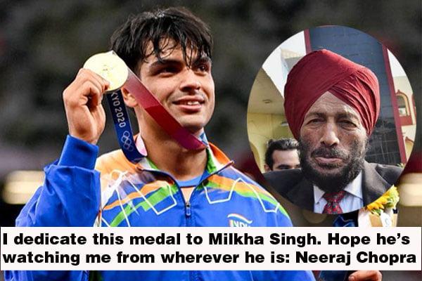 I dedicate this medal to Milkha Singh: Neeraj Chopra