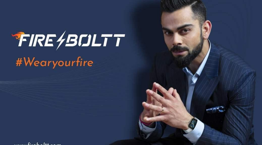Fire Boltt ropes in ViratKohli as new brand ambassador