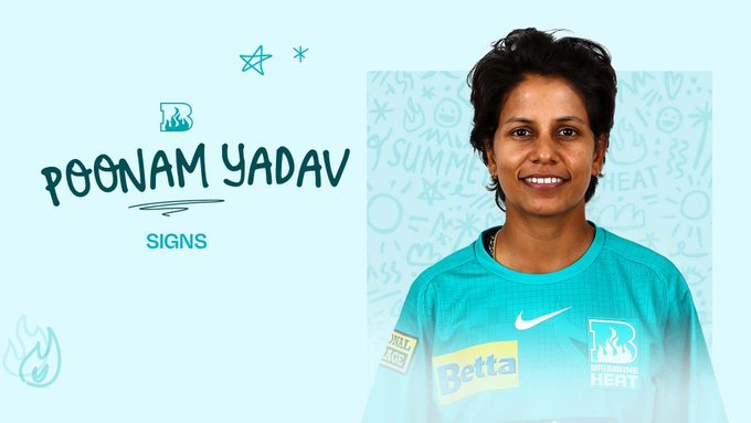 Poonam Yadav becomes eighth Indian to sign for WBBL 07
