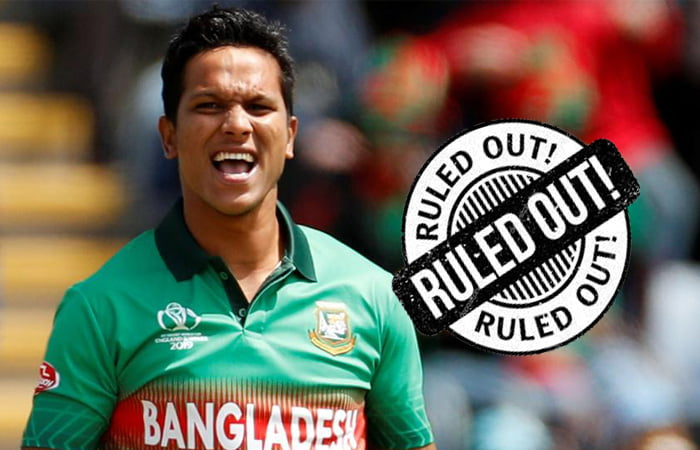 Bangladesh pacer Saifuddin ruled out of T20 World Cup