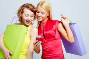 donne_shopping_cellulare