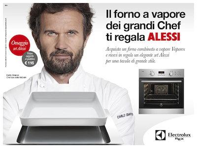 Visual Campagna Promo Electrolux Rex_Alessi_Carlo Cracco
