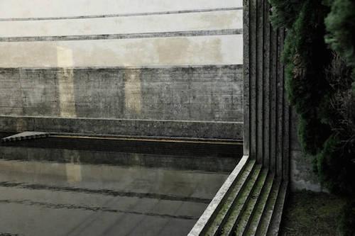 Un particolare della Tomba Brion